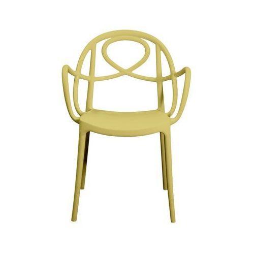 Green Krzesło ogrodowe etoile p żółte