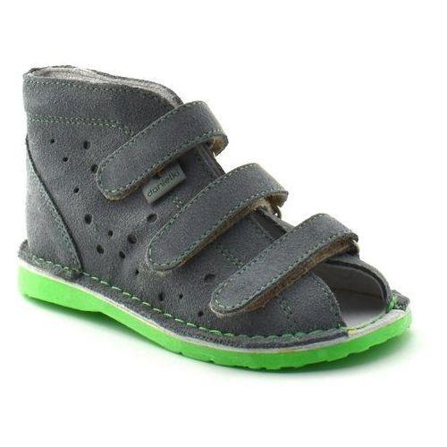 Danielki Dziecięce buty profilaktyczne tx105/115 szary fluo z