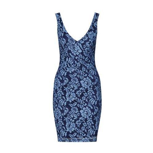 Missguided Sukienka 'Lace Bodycon' niebieski / czarny (5057703051568)