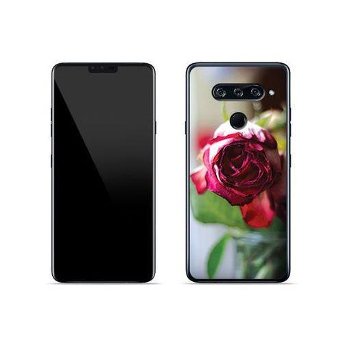 LG V40 ThinQ - etui na telefon Foto Case - pączek róży, ETLG813FOTOFT043000