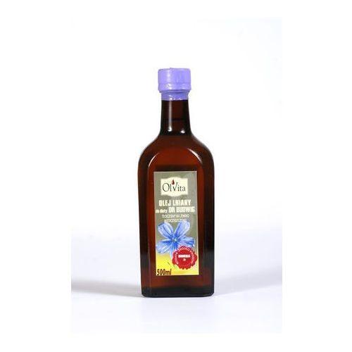 Olej lniany do diety dr Budwig tłoczony na zimno, nieoczyszczony 500ml - Olvita, 2916