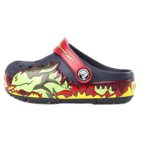 Crocs CrocsLights Fire Dragon Clog Crocs dziecięce Niebieski 23-24