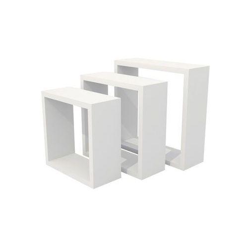 Form Zestaw 3 półki rigga kubik białe