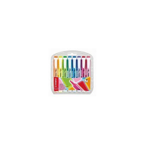 Zakreślacze swing cool zestaw 8 kolorów w etui 275/8 marki Stabilo