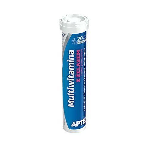 Tabletki APTEO Multiwitamina z żelazem x 20 tabletek musujących