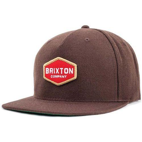 czapka z daszkiem BRIXTON - Obtuse Snapback Brown (BROWN) rozmiar: OS, kolor brązowy