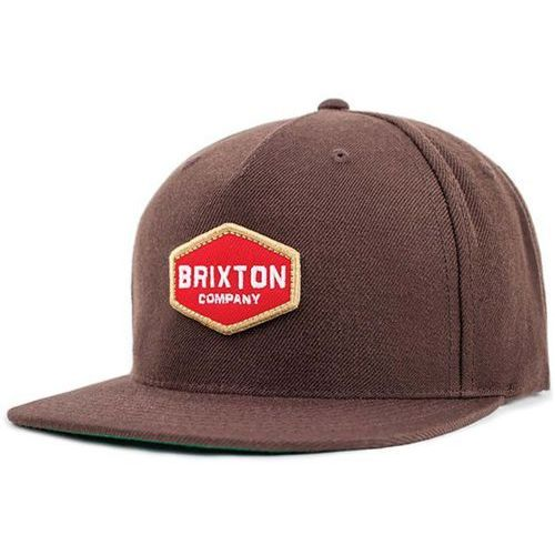 Czapka z daszkiem - obtuse snapback brown (brown) rozmiar: os marki Brixton