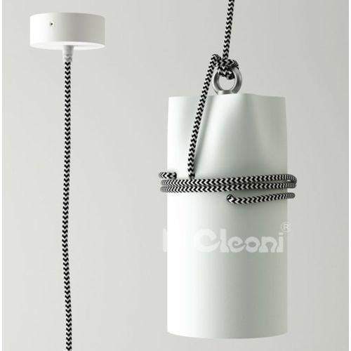 """Cleoni Lampa wisząca uran z czarno-białym przewodem (""""żelazko"""") żarówka led gratis!, 1296z1j1+"""
