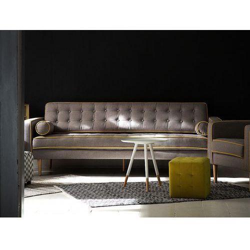 Kanapa szara - sofa - wypoczynek - tapicerowana - nowoczesna - flam marki Beliani