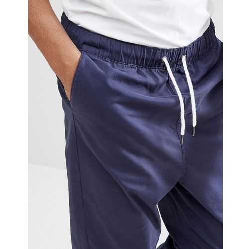 Another Influence Pull On cropped Drawstring Chinos - Navy, chinosy