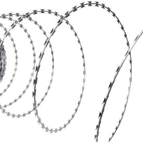 rolka z drutem kolczastym żyletkowym ze stali ocynkowanej 60 m nato marki Vidaxl