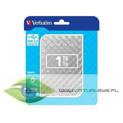 Verbatim Przenośny dysk twardy Store n Go 1TB 2.5 USB 3.0 srebrny (0023942531975)