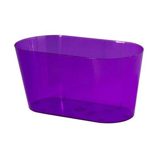 Osłonka na storczyki 23 x 11 cm plastikowa fioletowa marki Form-plastic