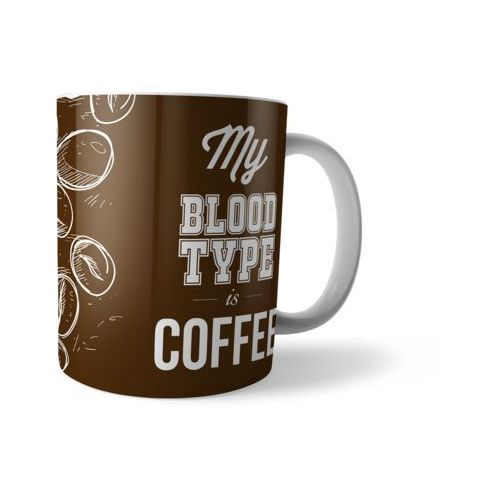 Megakoszulki Kubek full print my blood type is coffee
