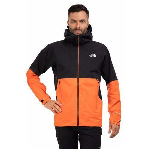 KURTKA MĘSKA TNF IMPENDOR SHELL - PERSIAN ORANGE/TNF BLACK, kolor pomarańczowy