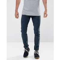 Farah Drake Slim Fit Stretch Cord Trousers in Navy - Navy, slim