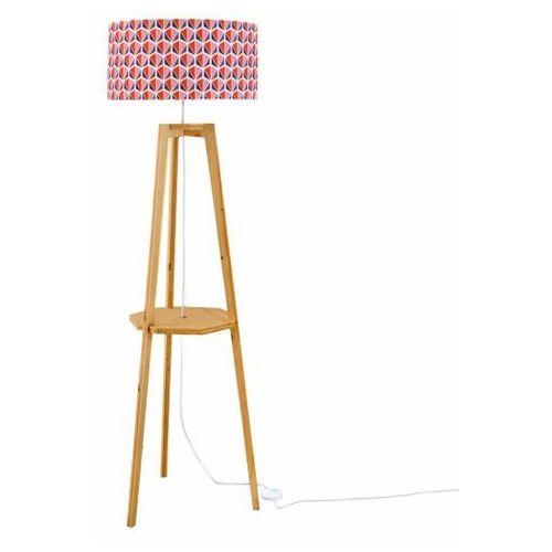 Facettes-lampa podlogowa tkanina motywy statyw dab wys.150cm marki Mademoiselle dimanche