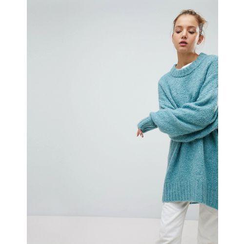 Weekday Oversized Boiled Wool Jumper - Green, w 4 rozmiarach