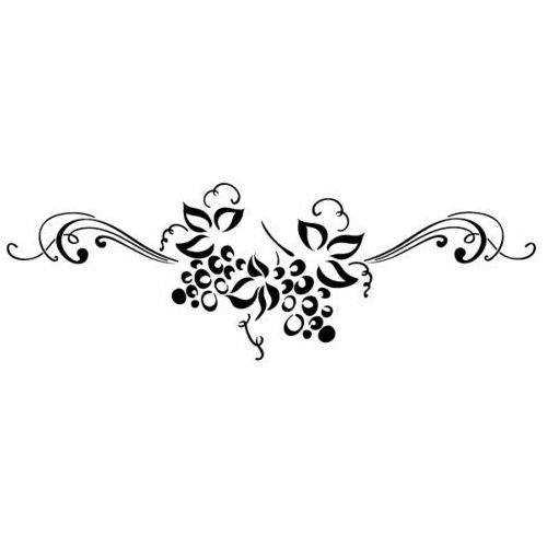 Szablon malarski z tworzywa, wielorazowy, wzór flora 337 - pod słońcem toskanii marki Szabloneria
