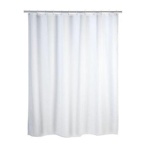 Zasłona prysznicowa, tekstylna, kolor biały, 180x200 cm, WENKO, B000SLVXMU