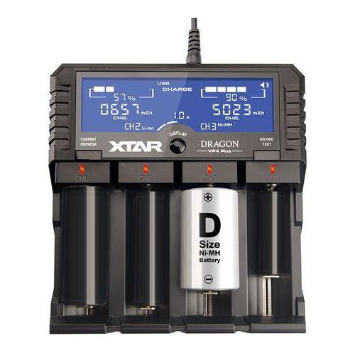 Ładowarka do akumulatorów cylindrycznych li-ion 18650 vp4+ dragon marki Xtar