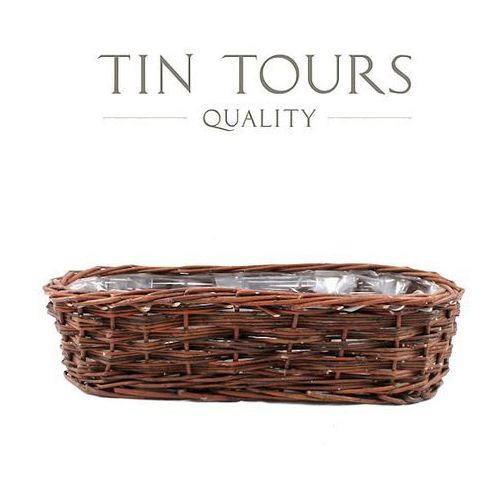 Tin tours sp.z o.o. Balkonówka wiklinowa/ skrzynka balkonowa 41x13x11 cm