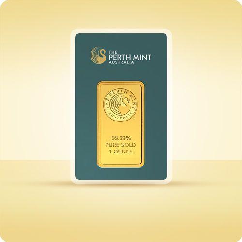 1 uncja sztabka złota certicard - 15 dni roboczych marki Perth mint, pamp suisse