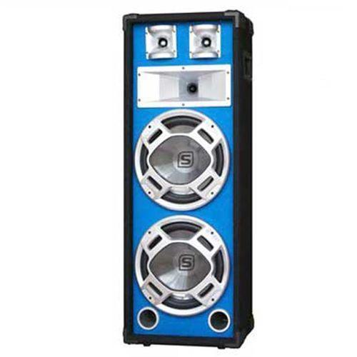 Skytec PA kolumna estradowa głośnik niebieski efekt świetlny 20 cm
