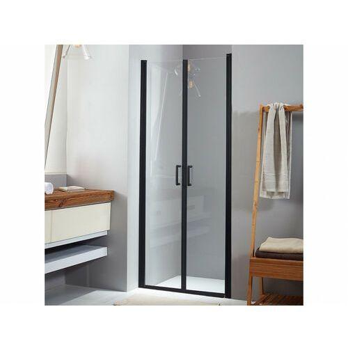 Uchylne drzwi prysznicowe mailys - 80x190 cm - kolor czarny marki Vente-unique