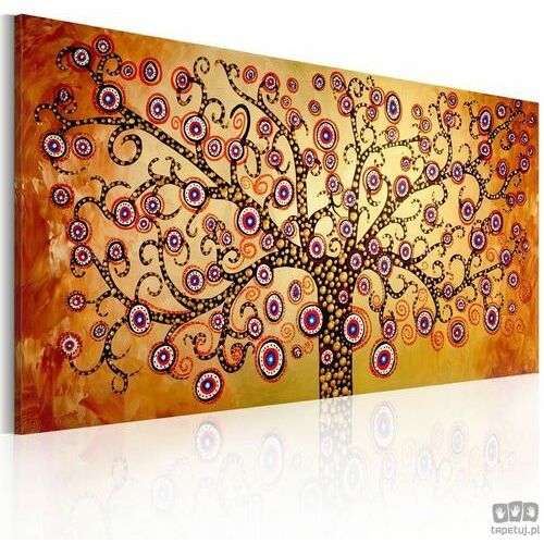 Obraz ręcznie malowany Pawie drzewo