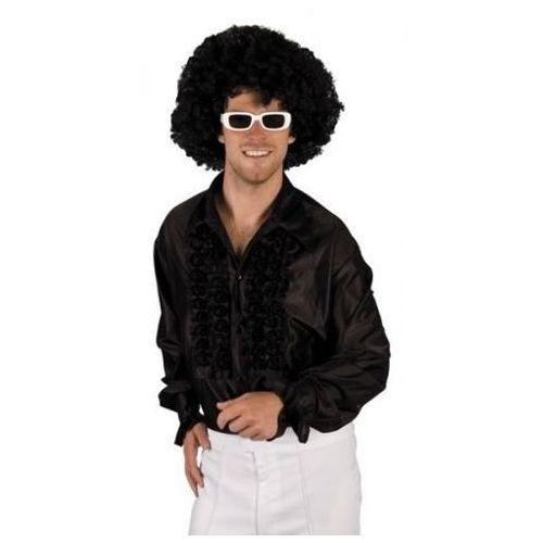 Koszula z falbanami czarna - M, L, XL - stroje/przebrania dla dorosłych