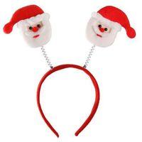 Opaska Mikołaje na sprężynkach - ozdoby i dekoracje świąteczne