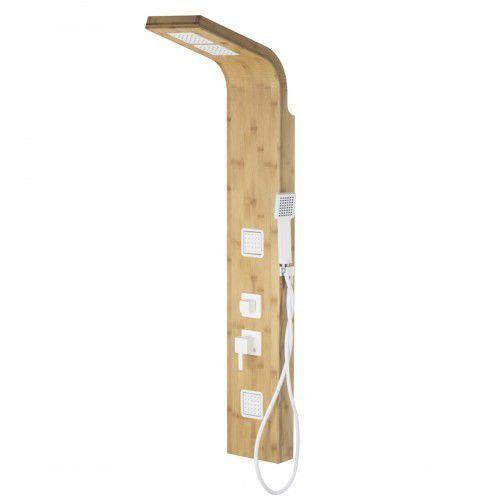 CORSAN BAO B-022 Panel prysznicowy z mieszaczem, drewno bambusowe, białe akcenty * WYSYŁKA GRATIS