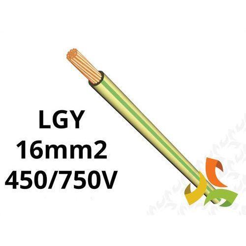 Przewód H07V-K LGY 1x16 450/750V zielono-żółty, linka giętka 11093020 NKT