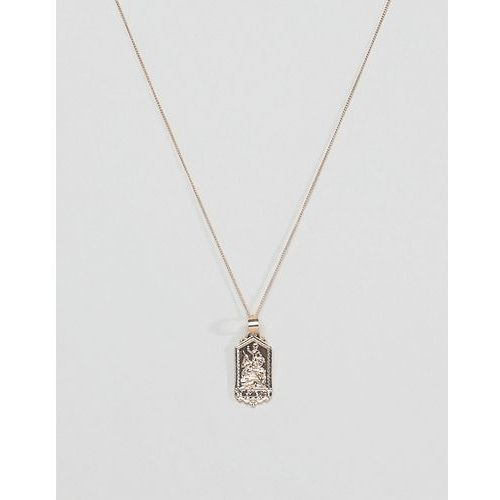 Chained & able mini st christopher tag necklace in gold - gold