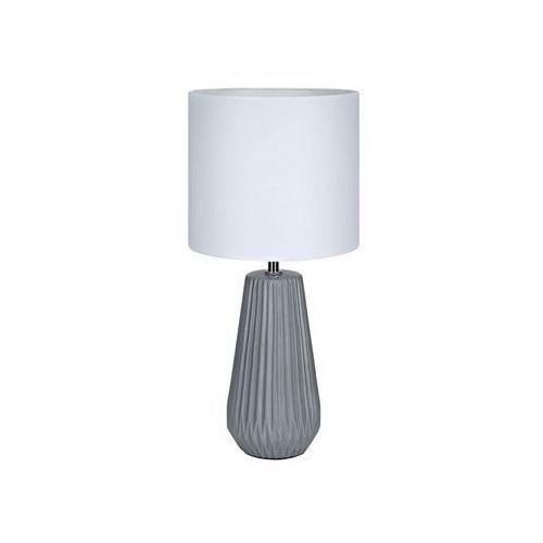 Stojąca LAMPA biurkowa NICCI 106449 Markslojd abażurowa LAMPKA stołowa szara biała, 106449