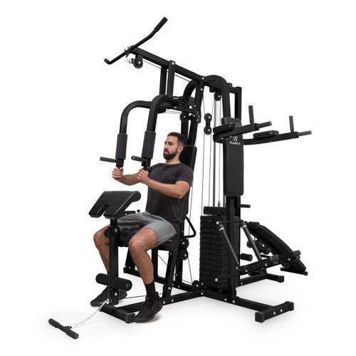 KLARFIT Ultimate Gym 9000, stanowisko treningowe, atlas 7 stacji, 150 kg, stal, QR, czarne (4060656153990)