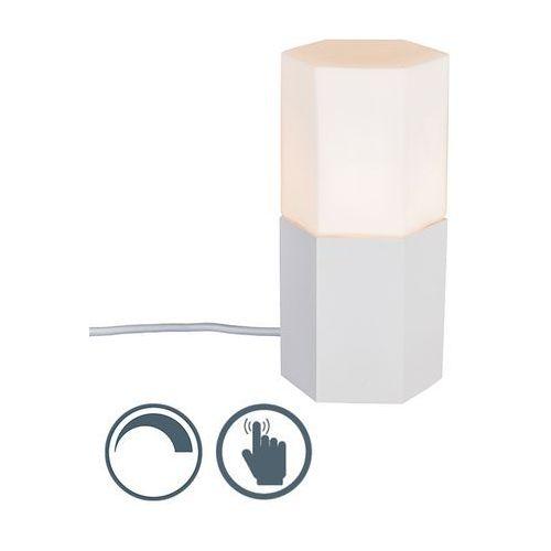 Qazqa Lampa stołowa hexagon biała