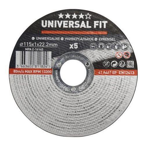 Universal fit Zestaw tarcz do metalu 115 x 1 mm 5 szt. (3663602811824)