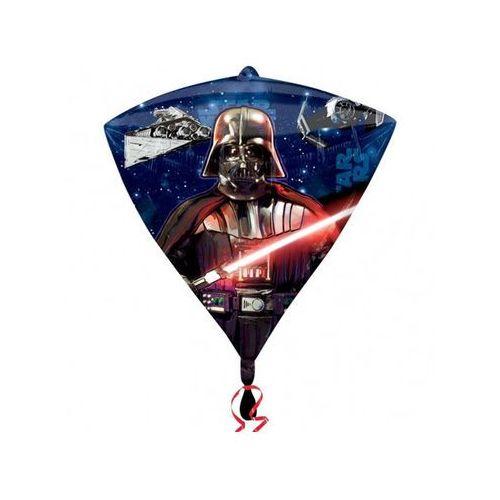 Balon foliowy diamentowy star wars - 38 x 43 cm - 1 szt. marki Amscan