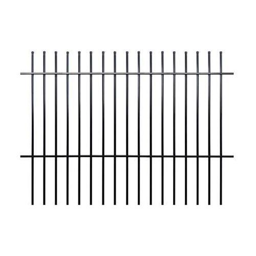 Przęsło ogrodzeniowe MILOS 200 x 145 cm POLBRAM czarne