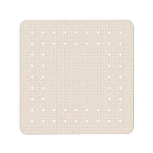 Wenko Kwadratowa, kauczukowa mata pod prysznic mirasol beige, 54x54 cm, z przyssawkami od spodu oraz z antypoślizgową strukturą, marka (4008838243121)