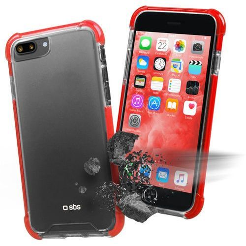 Etui SBS Hard Shock Cover do smartfona Apple iPhone 8 Plus/7 Plus Czerwony TECOVERSHOCKIP7PT, kolor czerwony