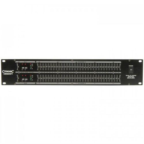 QTX Equalizer CEQ231 Equalizer graficzny 31-pasmowy 2-kanałowy