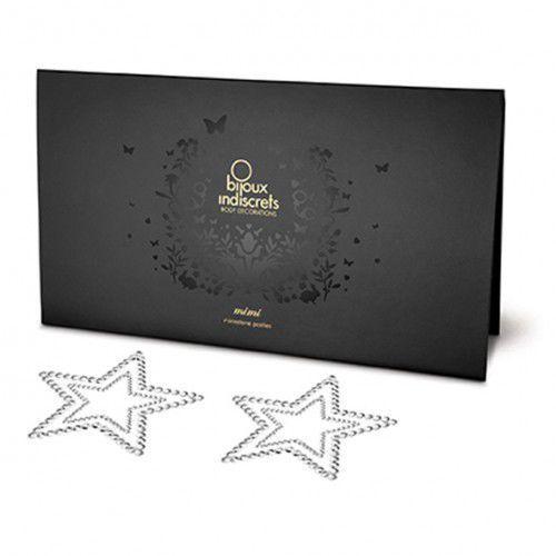 Nakładki na sutki - Bijoux Indiscrets Mimi Star Silver Gwiazda Srebrna - produkt z kategorii- Nakładki na sutki