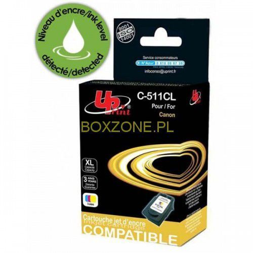 Uprint  kompatybilny ink z cl511, color, 12ml, c-511cl, dla canon mp240, mp260