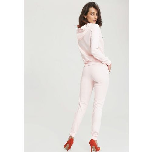 Różowy Komplet Dresowy I Do It For You, kolor różowy