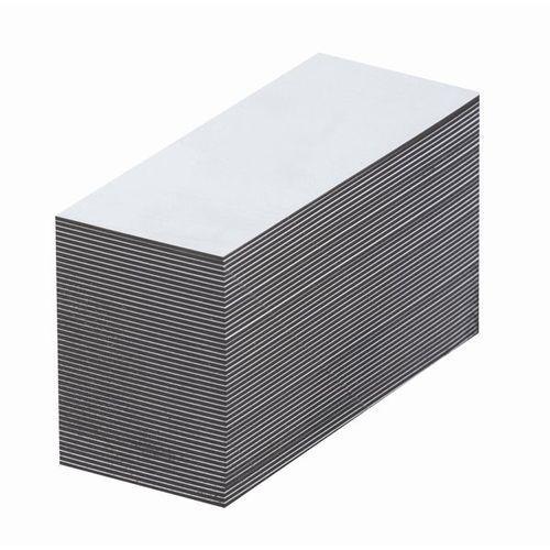 Haas Magnetyczna tablica magazynowa, białe, wys. x szer. 25x80 mm, opak. 100 szt. zap