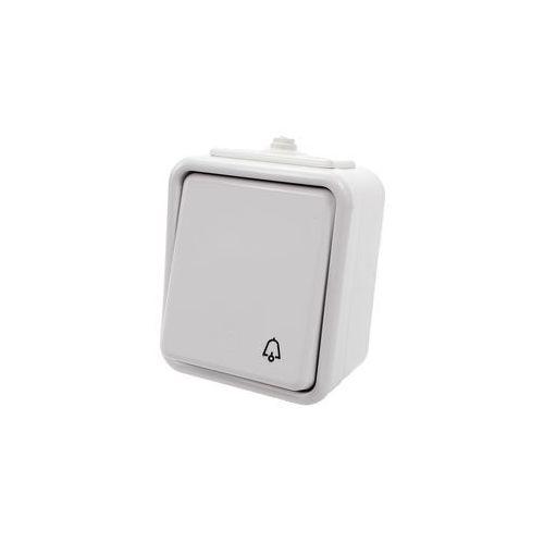 Przycisk dzwonek natynkowy IP44 WNT-101C biały Cedar Schneider Electric (5904093006664)