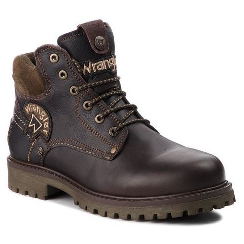 Trapery WRANGLER - Yuma Patch WM182003 Dk. Brown 30, kolor brązowy